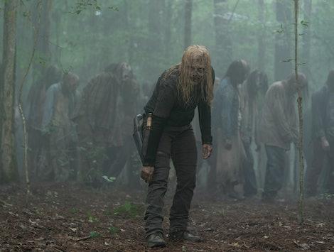 Samantha Morton as Alpha wearing a walker mask in The Walking Dead