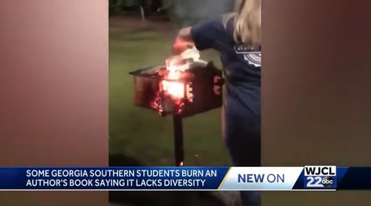 Students at Georgia Southern University burned a Latina author's book following a discussion on white privilege.