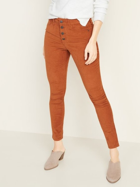 Old Navy High-Waisted Button-Fly Rockstar Super Skinny Cords for Women