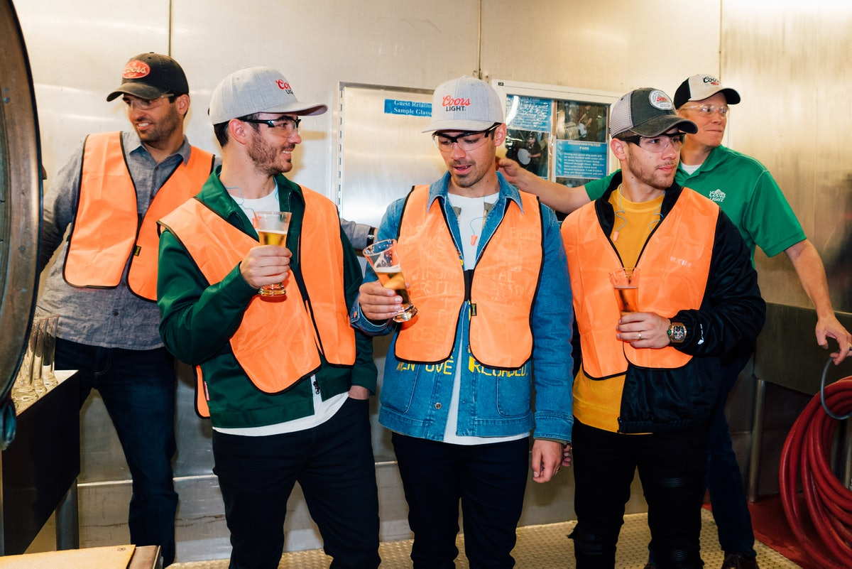 The Jonas Brothers' Coors Light bottles will be sold for a limited time in select cities.