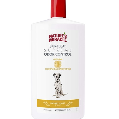 Nature's Miracle Supreme Odor Control Natural Oatmeal Shampoo & Conditioner (32 ounces)