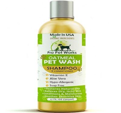 Pro Pet Works Oatmeal Pet Wash Shampoo & Conditioner (17 ounces)