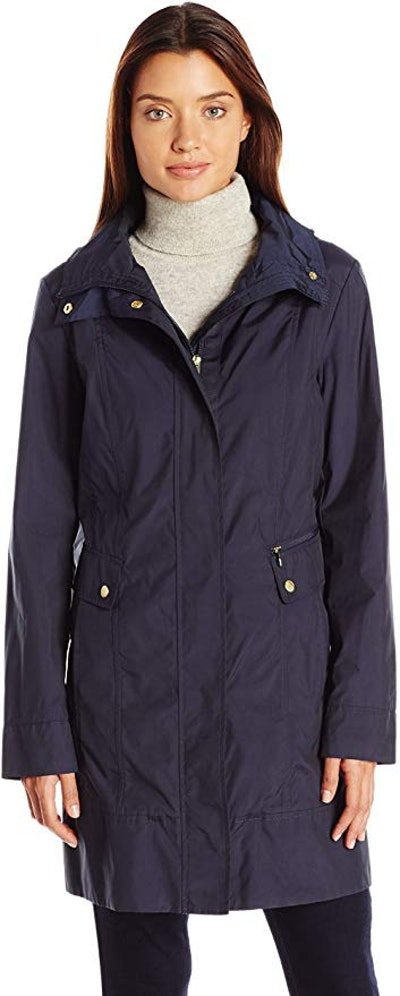 Cole Haan Women's Single Breasted Packable Rain Jacket
