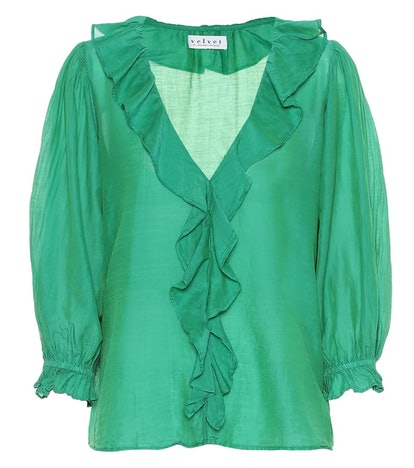 Lianne Cotton And Silk Blouse