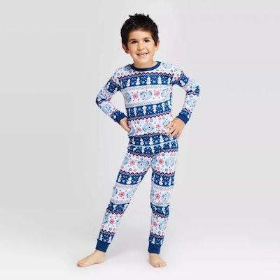 Target Frozen Holiday Olaf Fair Isle Pajama