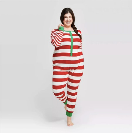 Target Plus Size Striped Holiday Union Suit