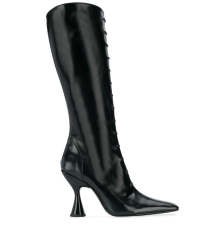 Stainless Lace-Up Boots