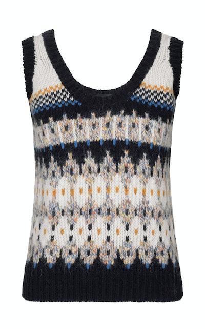 Lucas Wool-Blend Intarsia-Knit Vest