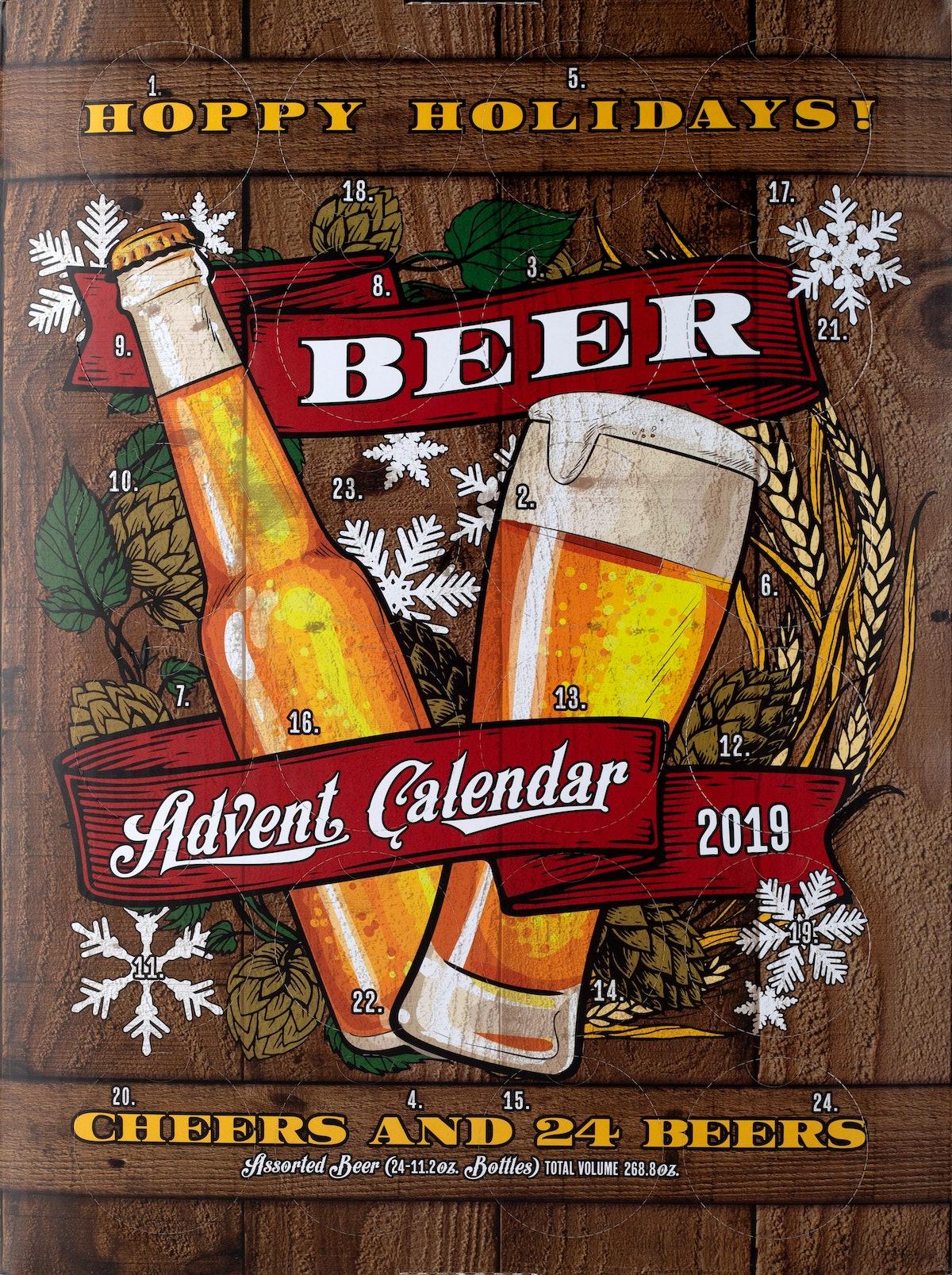 Aldi's 2019 Wine Advent Calendar is available alongside offerings like the Beer Advent Calendar.