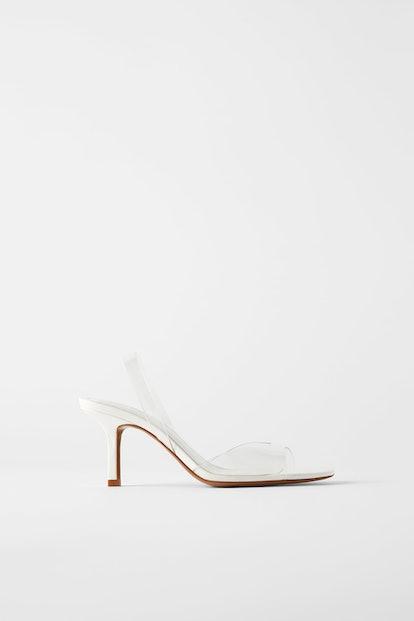 High Heeled Vinyl Sandals