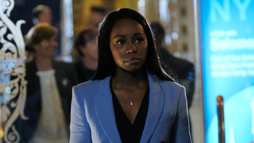 Michaela, played by Aja Naomi King on HTGAWM, ponders her next move.