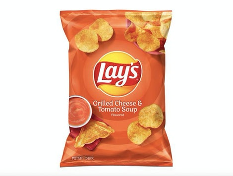Lay's new grilled cheese and tomato soup chip flavor.