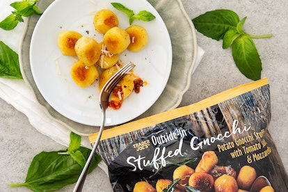 Have a hot and filling meal ready in less than 10 minutes with Trader Joe's stuffed gnocchi. Image credit: Trader Joe's