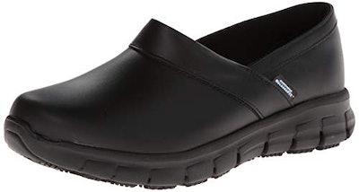 Skechers for Work Women's Relaxed Fit Slip-Resistant Work Shoe