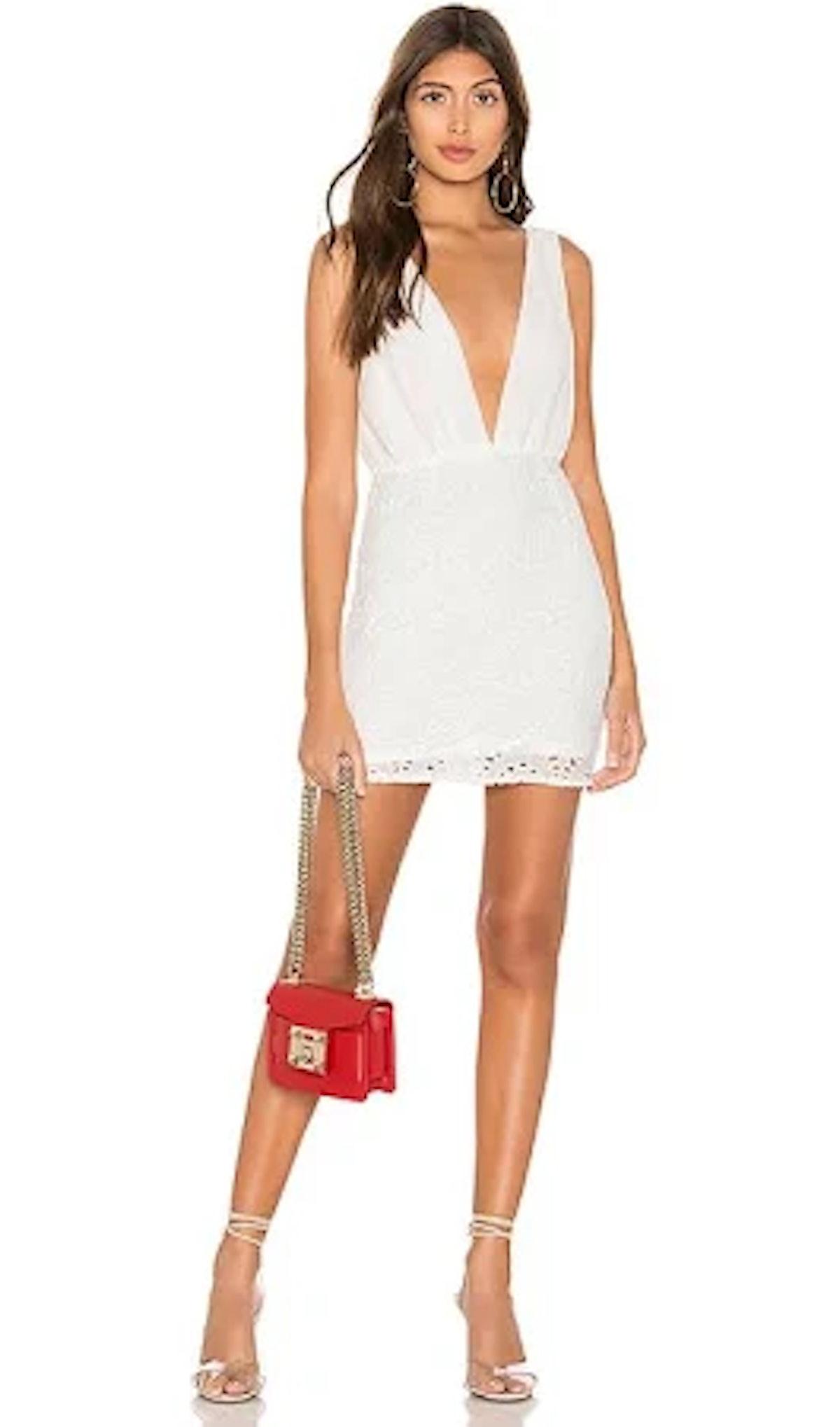 Emery Plunge Mini Dress