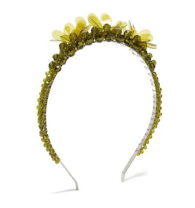 Simone Rocha Floral Crystal Bead Headband