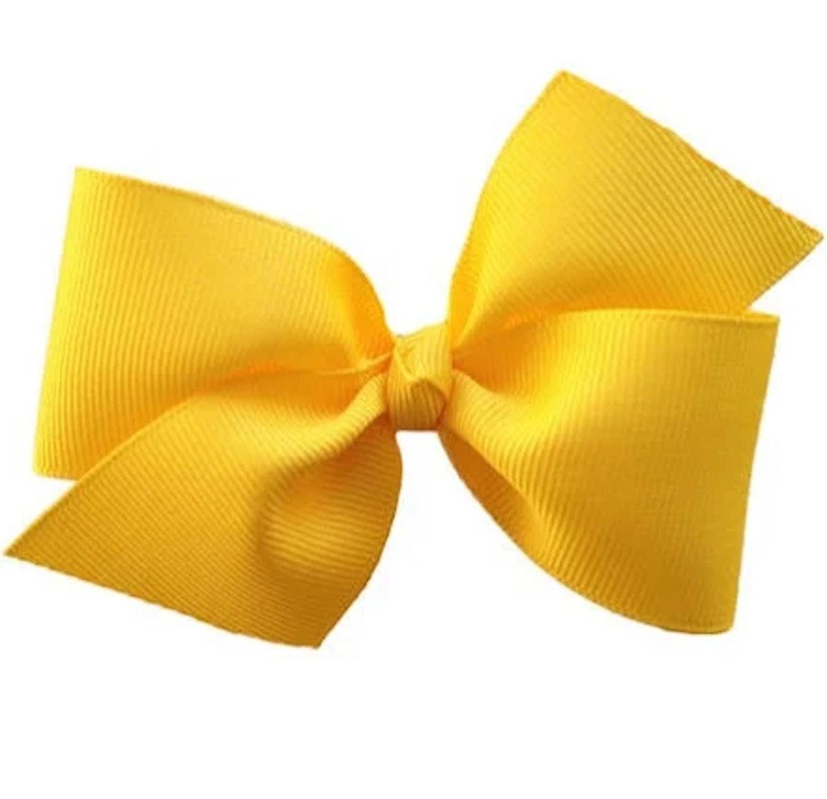 Yellow hair bow - hair bows, girls hair bows, toddler hair bows, baby bows, hair bows for girls, hair clips