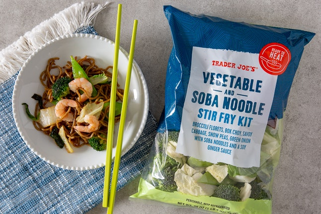 Dig into hot and tasty stir fry that you can prepare in under 10 minutes. Image credit: Trader Joe's