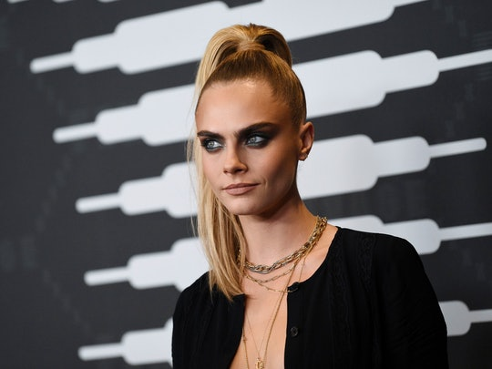 Cara Delevingne's white eyeshadow was very different than her past smoky-eye looks.