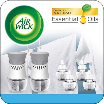 Air Wick Plug-In Scented Oil Starter Kit, 2 Warmers & 6 Refills