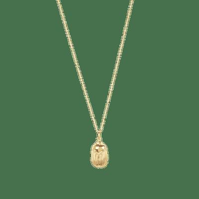 Scarab Necklace Vermeil