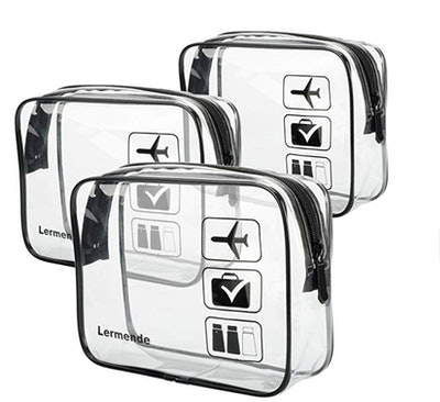 Lermende TSA-Approved Toiletry Bag (3-Pack)