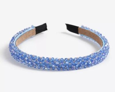 Blue Bead Headband