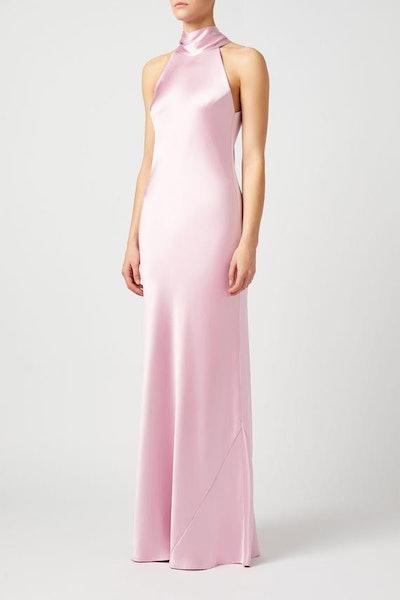Silk Sienna Dress - Blush
