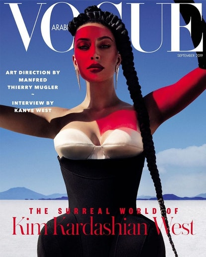 Kim Kardashian West's Vogue Arabia cover featured pieces from Manfred Thierry Mugler.