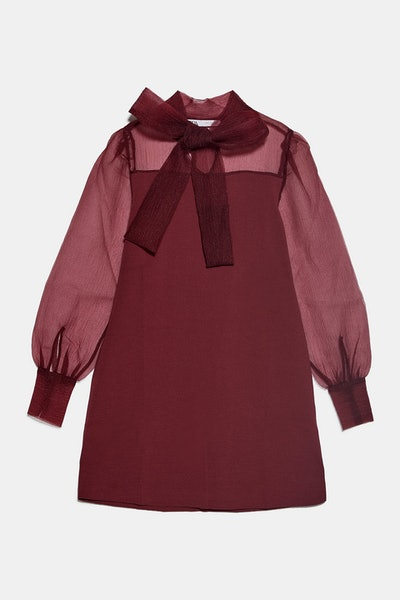 Contrasting Organza Dress