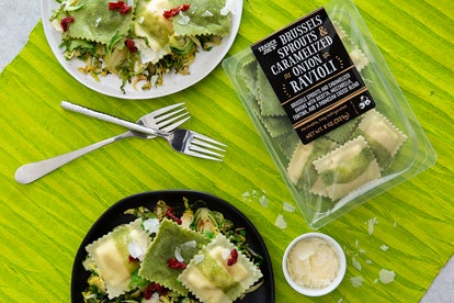 Prepare this Brussels sprouts and onion ravioli in less than five minutes. Image credit: Trader Joe's