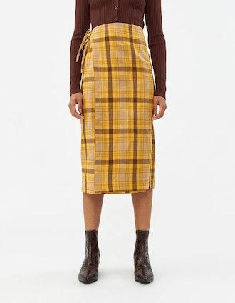 Monica Check Skirt