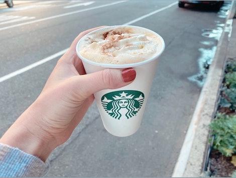 The Pumpkin Spice Birthday Cake Latte at Starbucks.