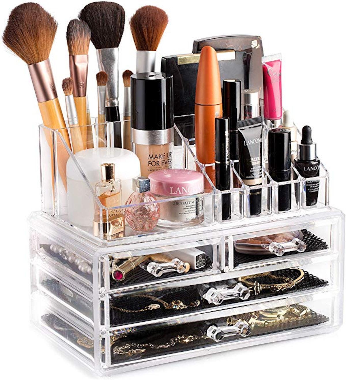 Masirs Clear Cosmetic Organizer