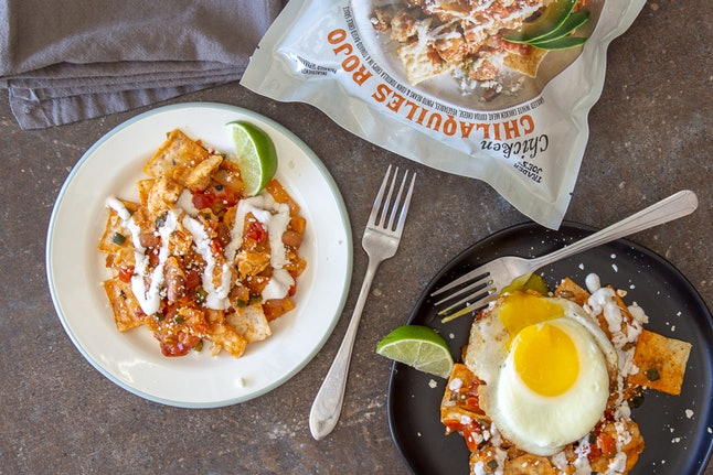 Have less than 10 minutes to cook? The chicken chilaquiles rojo is for you. Image credit: Trader Joe's