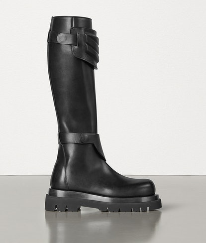 Knee Boots In Storm Cuir
