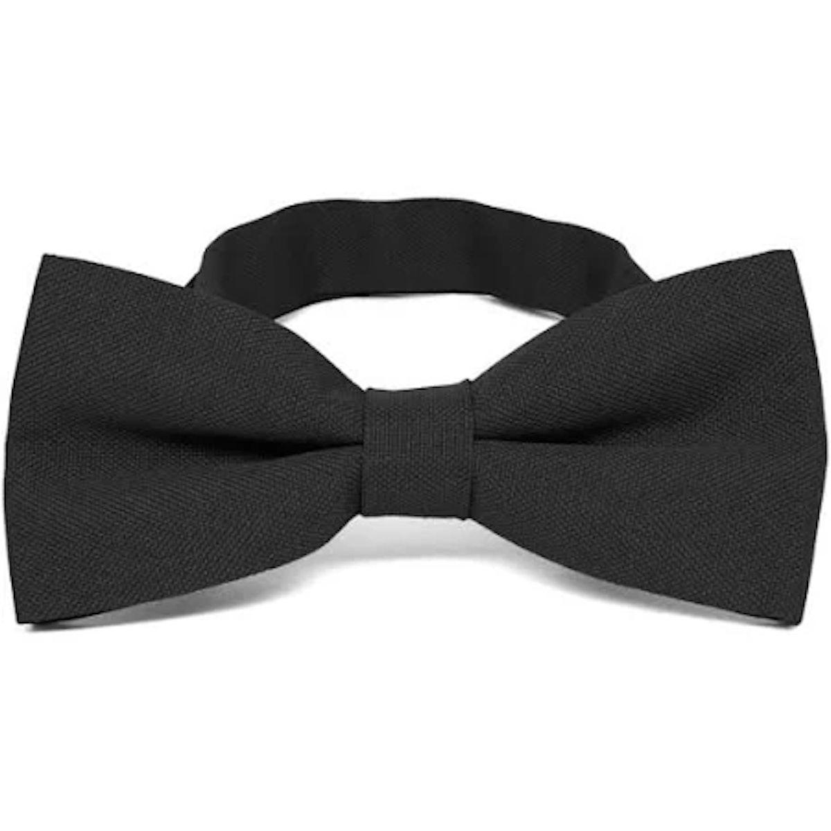Black Matte Finish Bow Tie