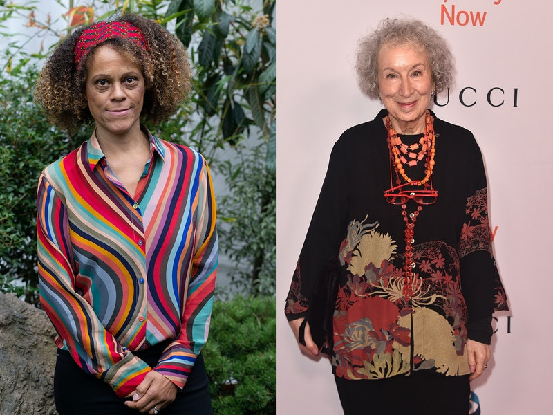 Pictured are the joint winners of the Booker Prize in 2019: GIRL, WOMAN, OTHER author Bernardine Evaristo and THE TESTAMENTS author Margaret Atwood.