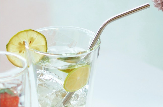 The set comes in two sizes, 8-5 inch and 10-inch. The medium sized straws are better for standard glasses and the longer straws are great for high ball glasses.
