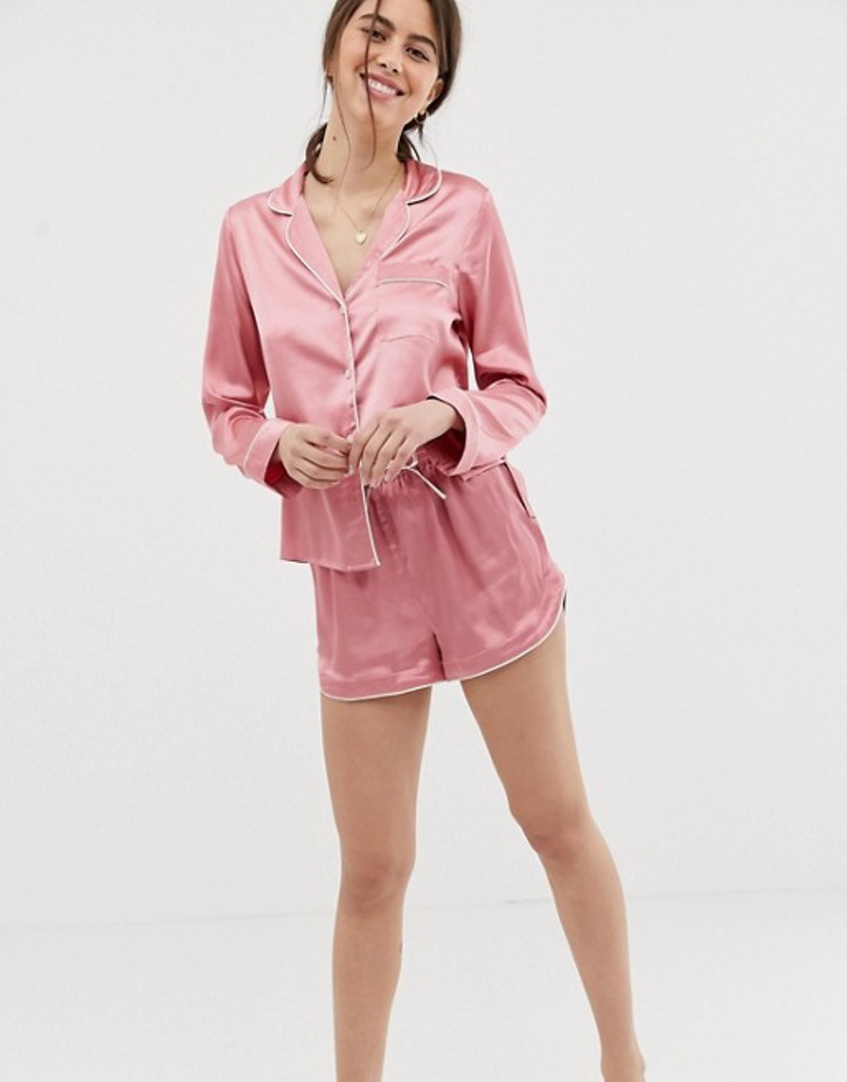 ASOS DESIGN mix & match satin pyjama short