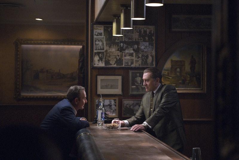 Joe Pesci as Russell Bufalino and Robert De Niro as Frank Sheeran in Netflix's The Irishman