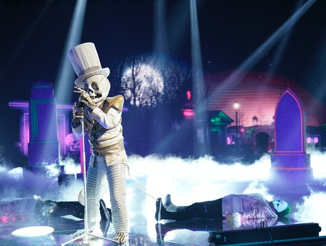 The Skeleton performs on The Masked Singer