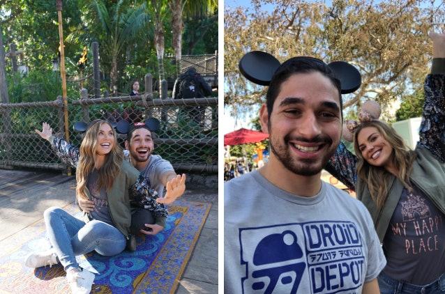 Hannah Brown and Alan Bersten at Disney Land.