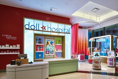 The American Girl Doll Hospital offers wellness exams, interactive play stations, and a certificate ...