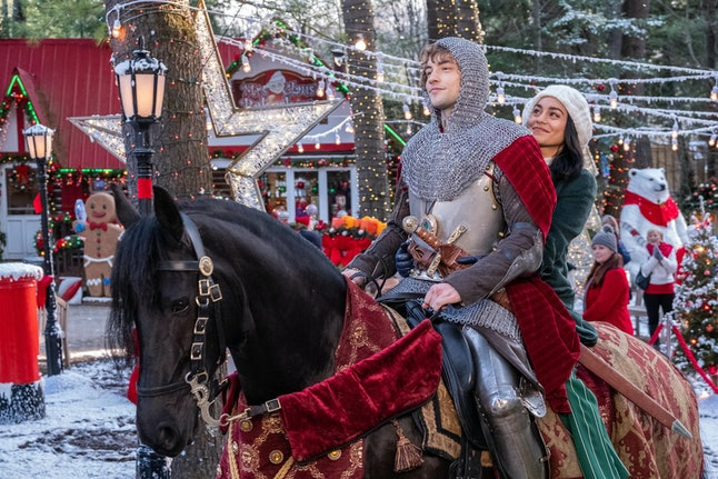 Josh Whitehouse and Vanessa Hudgens star in 'The Knight Before Christmas' as part of Netfli'x holiday movie lineup