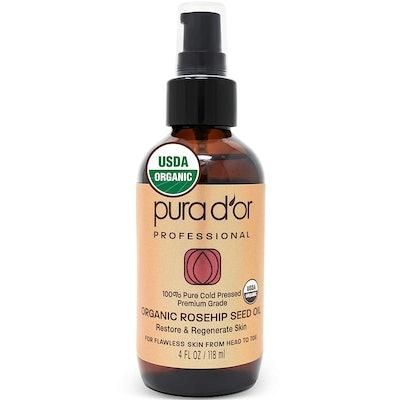 Pura D'Or Organic Rose Hip Oil (4-oz Bottle)