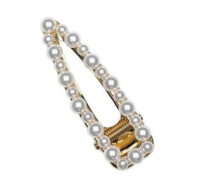 Open Shape Pearl Barette