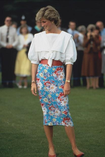 Princess Diana sailor collar