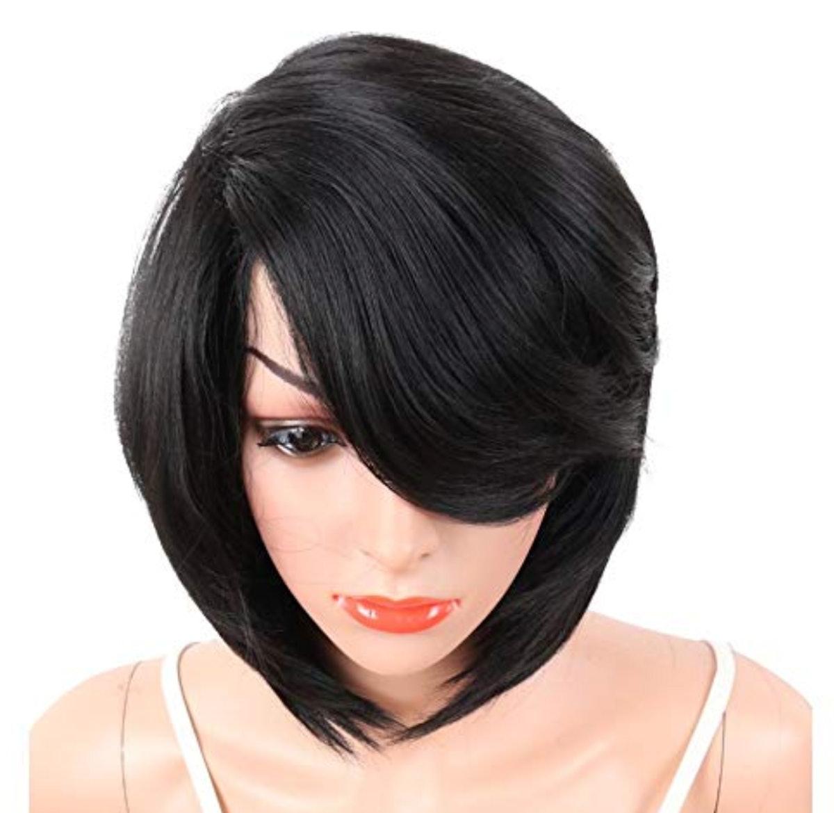 KRSI Short Pixie Cut Straight Bob Synthetic Wig