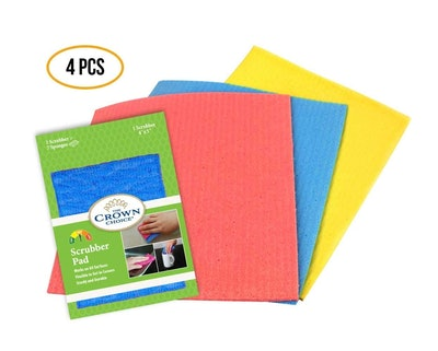 The Crown Choice Sponge Cloth And Scrubber Dishcloth Set